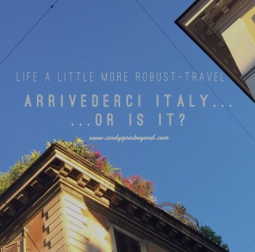 Arrivederci Italy...or is it?