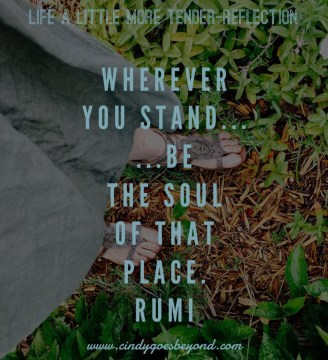 Wherever I Stand...