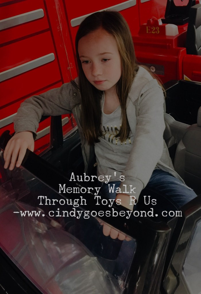 Aubrey's Memory Walk Through Toys R Us