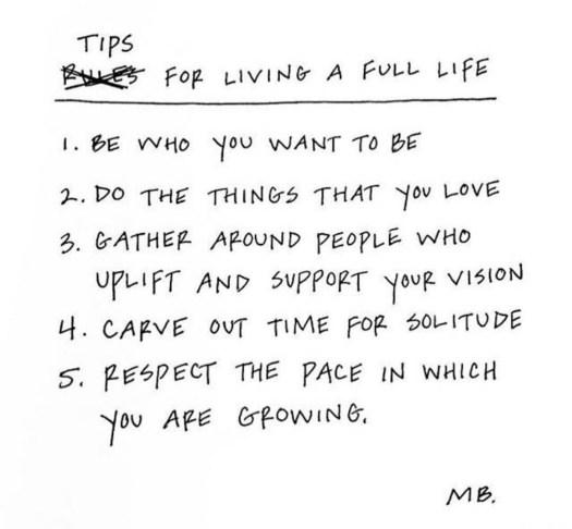 Living a Full Life