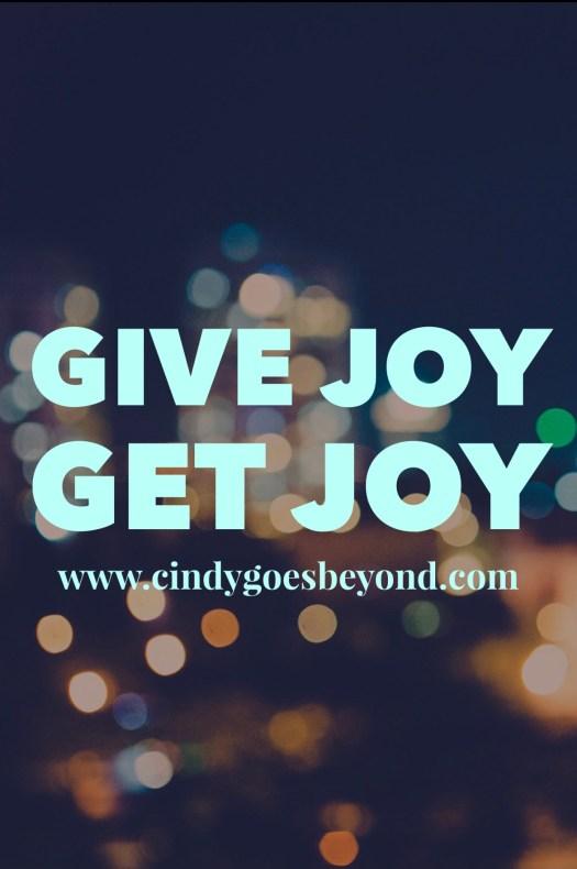 Give Joy Get Joy