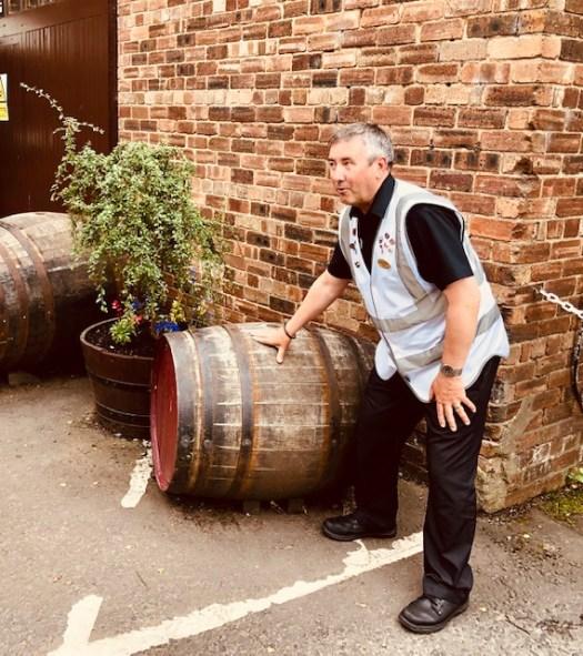 Whisky in casks
