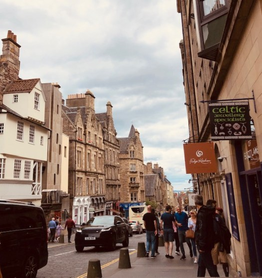 Looking down the Royal Mile.