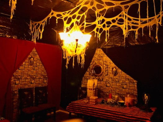 Classic Monsters Halloween Party Dining Room