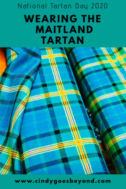 Wearing the Maitland Tartan title meme