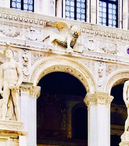Lions of Venice palace