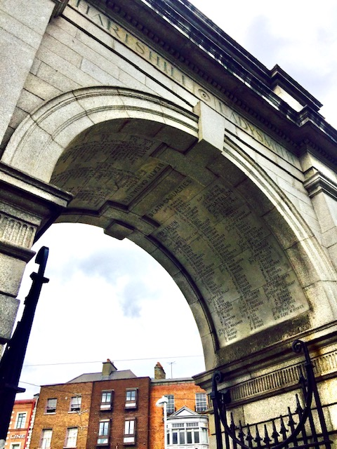 St Stephen's Green Dublin underside of arch