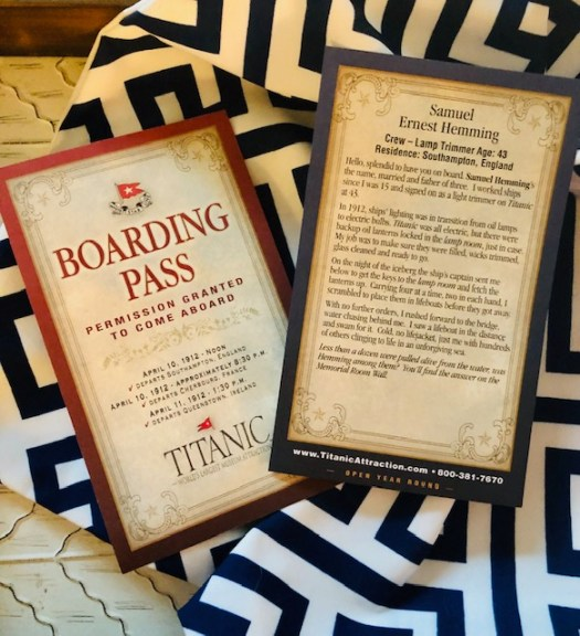 Titanic Museum Branson Missouri pass 2