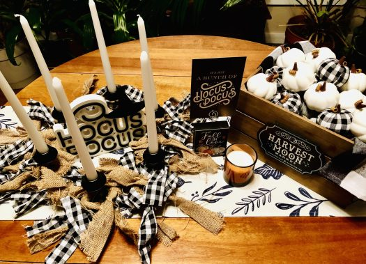 Decorating for Halloween with Decocrated dining table decor