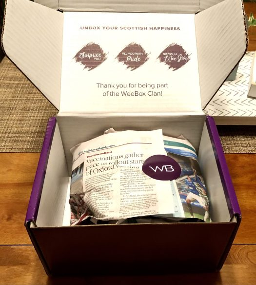 WeeBox Subscription Box from Scotland surprises