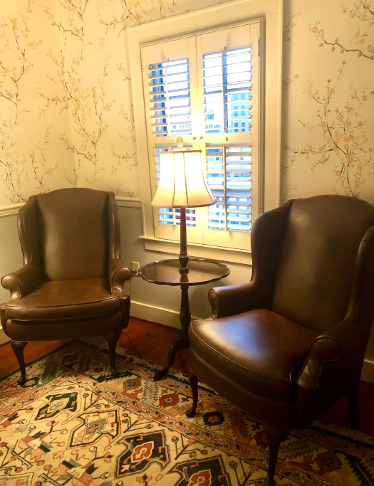 Chairs by the window