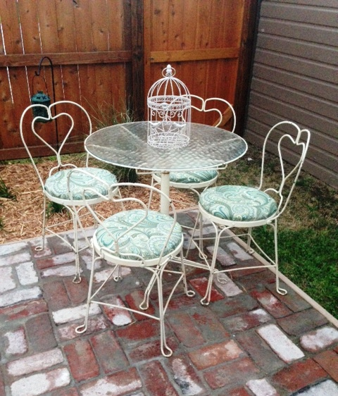 day 166 reupholster bistro chairs