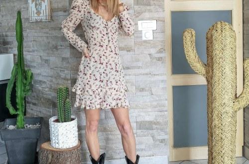 robe lolaliza imprimés fleurs silhouette x morphologie mode