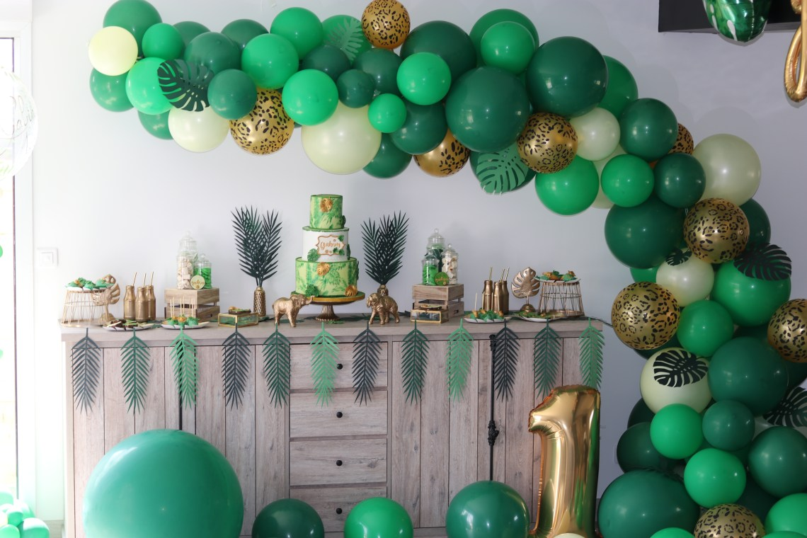jungle party déco anniversaire mybbshowershop 1 an Gabin Cindy Chtis