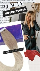 Cindy chais extensions bandes adhesives poser