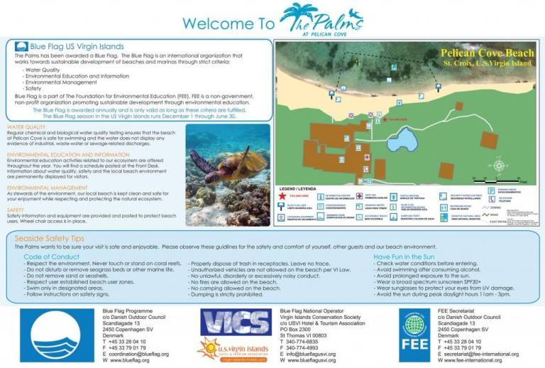 Palms Blue Flag Beach Information