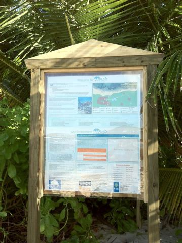 Palms Blue Flag Beach Sign