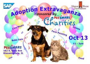 Adoption Extravaganza Oct.13, Bloomingdale, IL