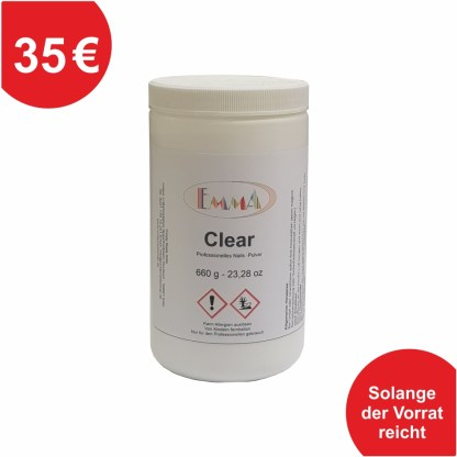Acrylpulver Clear 660g