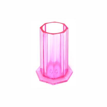 Pinsel Behälter 3 Farben, Klar Rose Lila 1
