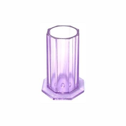 Pinsel Behälter 3 Farben, Klar Rose Lila 2