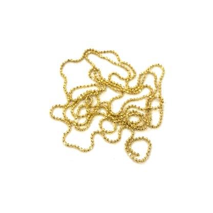 Nail Art Perlenkette A06 - Gold 1