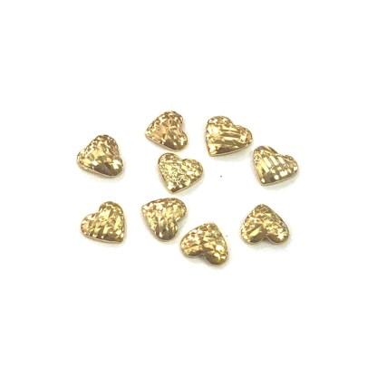 Metall Nieten D01 Gold/Silber - Herz 2