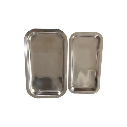 Medizin Teller aus Edelstahl, 200x105 mm 2