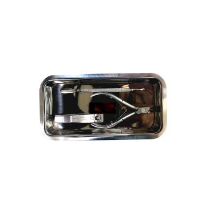 Medizin Teller aus Edelstahl, 200x105 mm 1