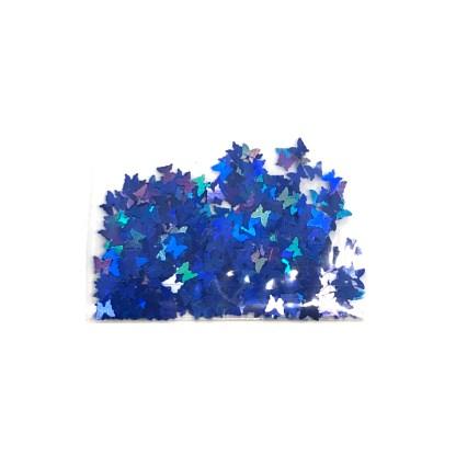 3D Hologramm Schmetterling - Navy Blau - B13 1