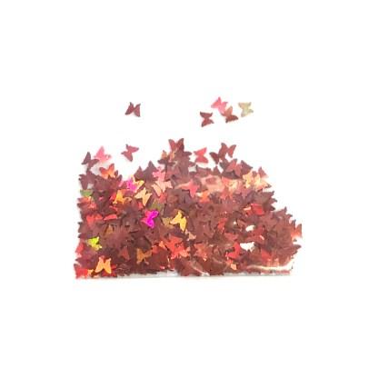 3D Hologramm Schmetterling – Rotorange - B24 1