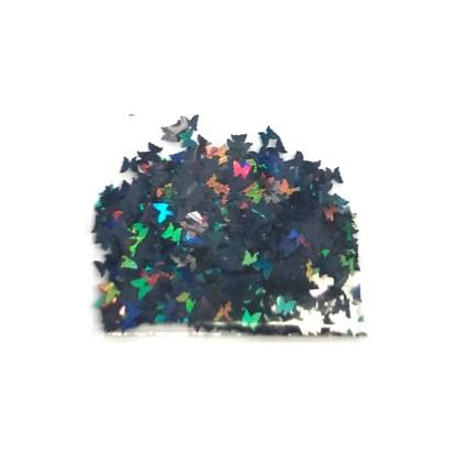3D Hologramm Schmetterling - Schwarz - B17 1
