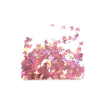 3D Hologramm Schmetterling - Lachsrosa - B16 1
