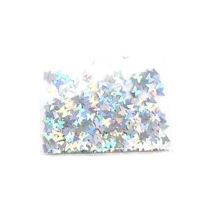 3D Hologramm Schmetterling – Silber - B21 1