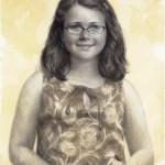 "Portrait of Caitlin • Charcoal 24"" x 18"""