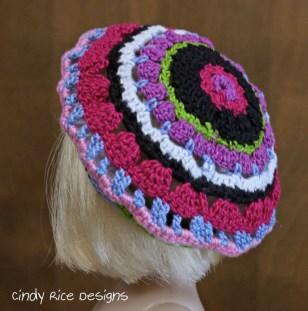 crocheted beret patsy 851