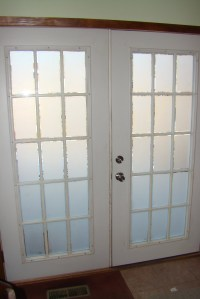 Frosted Glass on French Doors | cindyriddle