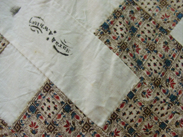 Early Album Signature Quilt Top SOLD-March Madness Sale