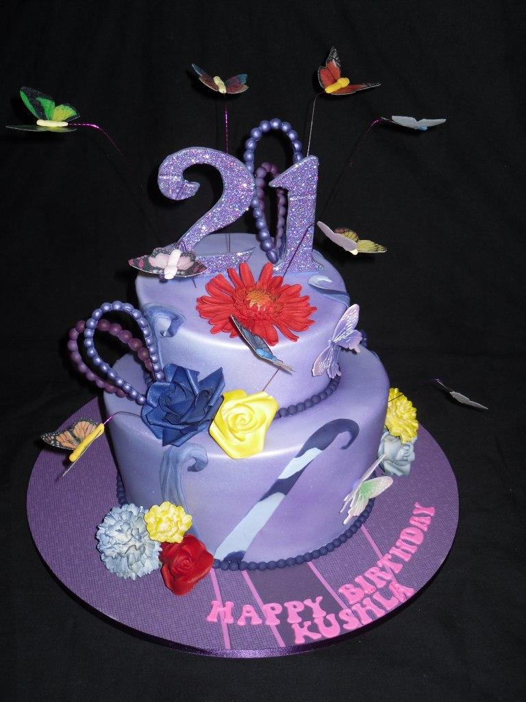 A 21st celebration cake