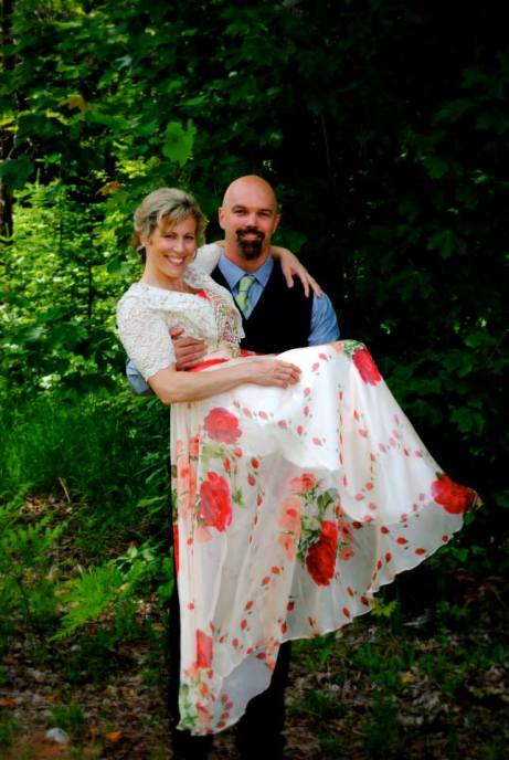 Vance and Cindy dressed up for a wedding after thirty years of marriage boot camp