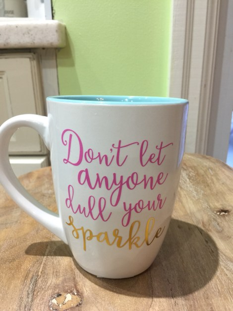 a mug with a saying about mid-life crisis