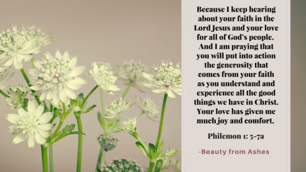 Philemon 1 5-7a