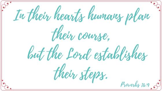Proverbs 16,9