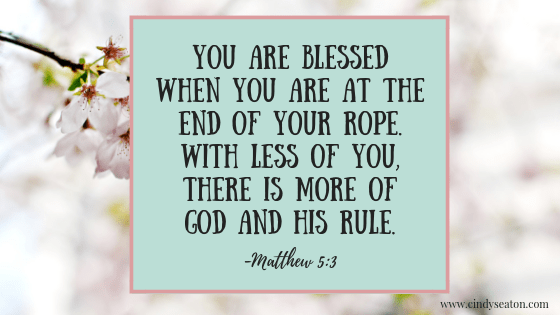 Matthew 5: 3 - Bible verse