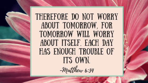 Matthew 6, 34. Bible verse.