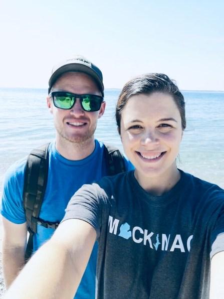 Charity and Dan on Mackinac Island.