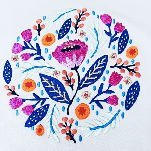 A sample of Cherie's embroidery