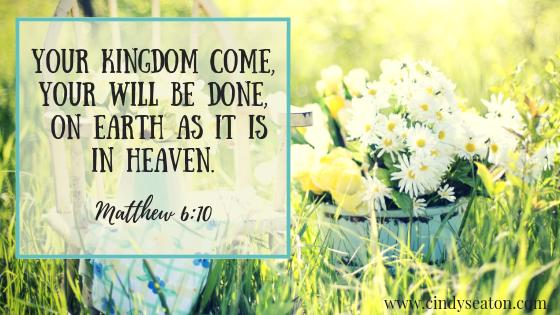 Matthew 6: 10, Bible verse.