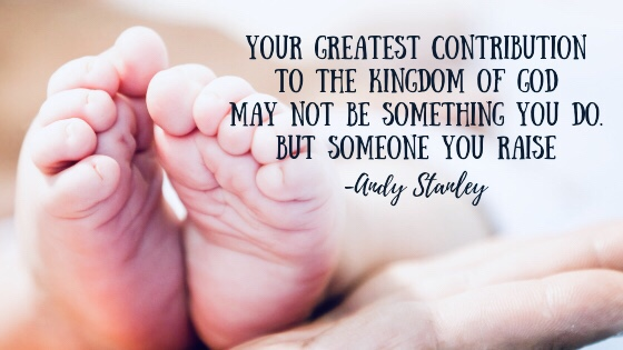 quote by Andy Stanley about how important raising children is.
