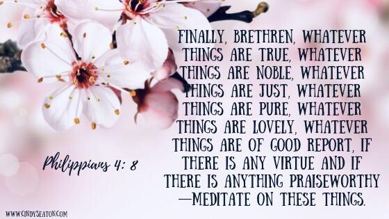 Bible verse Philippians 4:8.